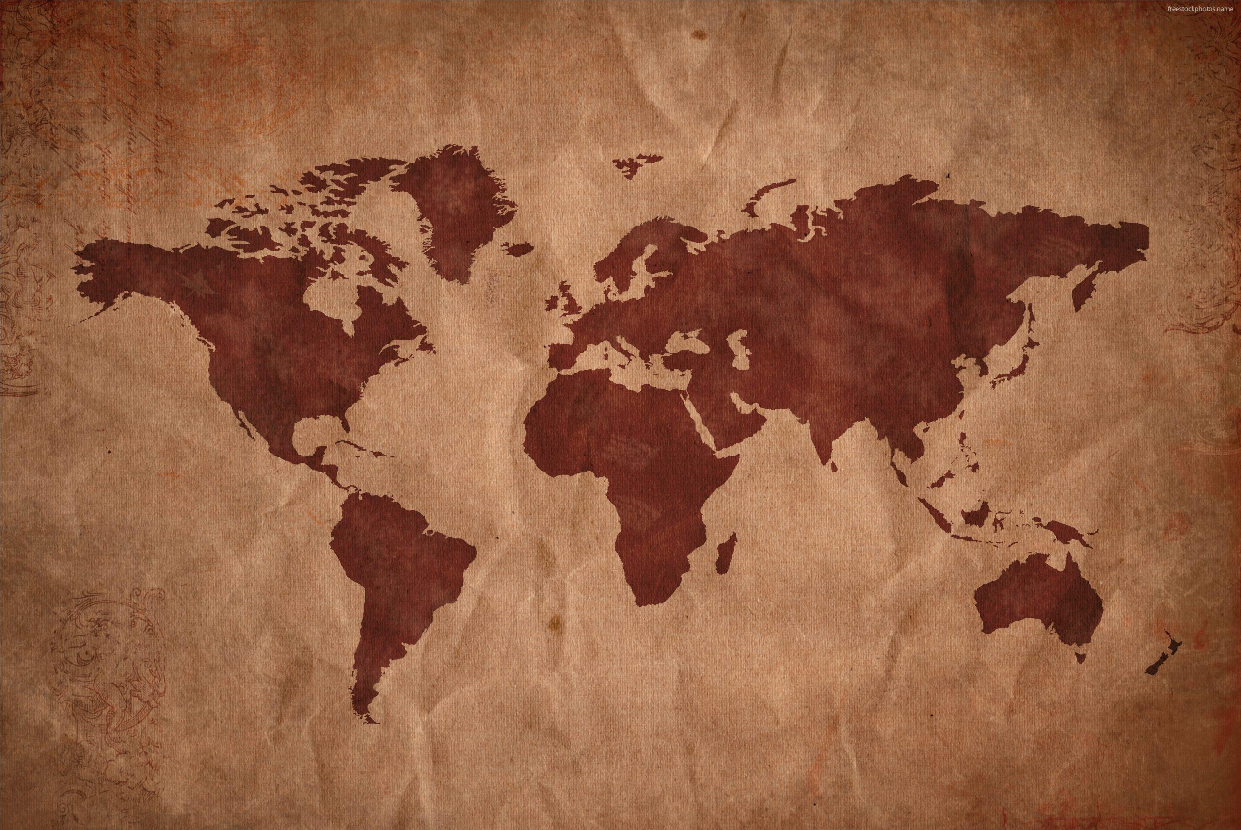 Обои На Рабочий Стол Карта Мира